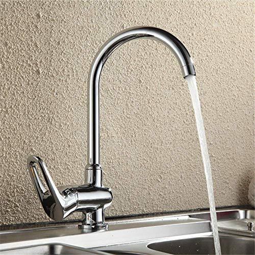 LOSYU Kitchen Bar Sink Taps Edelstahl-Körper-Chrom Poliert Klassische Küchenarmatur 360-Grad-Drehung Mixer Wasserhahn Keramik Ventileinsatz-Mischer-Hahn