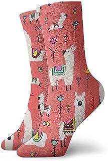 Dydan Tne, Niños Niñas Locos Divertidos Intemporales Tesoros Alpacas Calcetines de Coral Lindos Calcetines de Vestir de Novedad