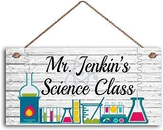 MAIYUAN Teacher Sign, Science Class Personalized Sign, Teacher's Name, Classroom Hanging Door Sign, Gift for Teacher