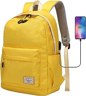 Modoker Travel Laptop Backpack for Women Men, College School Bookbag Vintage Backpack with USB Charging Port, Water Resist...