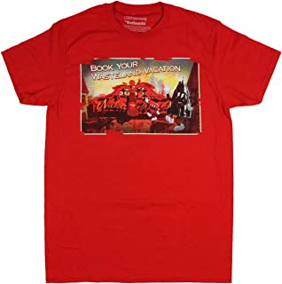 Real Deal Sales LLC Fallout Nuka World Book Your Wasteland Vacation Men's T-Shirt