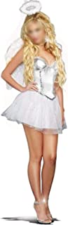 Costumes White Fallen Angel Costume Adult Women Halloween Fancy Dress Costumes Sexy Angels Costumes With Wing (Color : Whi...