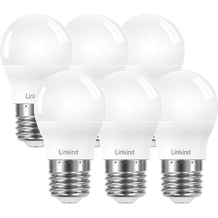 Linkind Ampoule P45 Golf E27 7,5W, ampoule 60W remplacée, ampoule blanc froid 806lm 5000K avec angle de faisceau 220 °, non dimmable, ErP, certifiée CE, AC 220-240V Ampoule LED P45 / G45, lot de 6