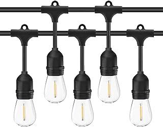 Aussie Lifestyle 15m Outdoor LED Light Chain Garden, 15 x E27 LED Light Bulbs IP65, Decorative Lamp Waterproof Decorative ...