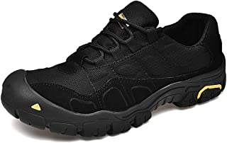 Shoes Comfortable Fashion Sneakers for Men Low Top Walking Running Hiking Sport Shoes Lace Up Casual Cloth Round Toe Anti-Slip Breathable Wear Resistant Fashion (Color : Black, Size : 8.5 UK)
