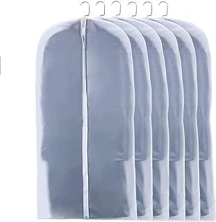 MOLLXZ 洋服カバー 衣類カバー 収納用品 衣類収納ケース 中身が見える 防塵 防湿 防カビ 収納用品 型崩れ防止 5枚組 スーツカバー (5枚組 L)