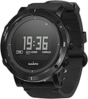 Suunto Essential Carbon Digital SS Leather Multi Quartz Men's Watch SS021215000