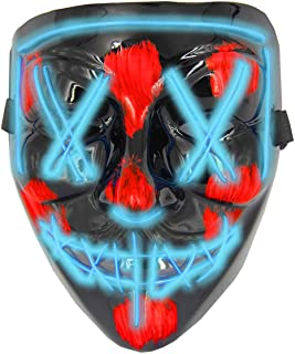 Halloween Masks for AdultsLed Purge Mask Light Up MaskHalloween Mask Led Mask Scary Halloween Mask for Halloween
