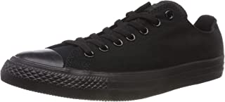 Converse Chuck Taylor Low Top Unisex Sneakers, Black Monochrome