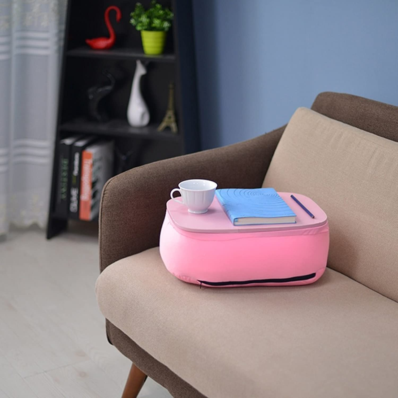 TJTG Notebook Mattress Dormitory pad Pillow Lazy Bed Cushion Plate Bracket Shelf (Size   Pink)