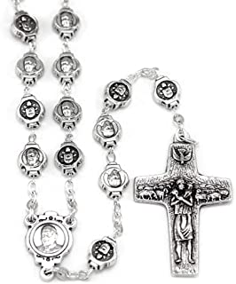 Pope Francis Metal Beads Rosary with The Original Pope Francis Cross by Vedele