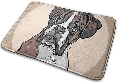 """Dog Boxer Indoor Doormat Front Back Door Mat,23.6""""x15.8"""" Mat Non Slip Large Door Rug"""