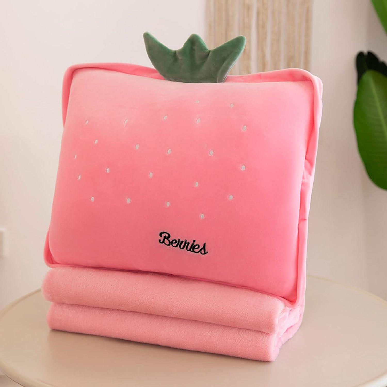 SDFAWEFA 3 in 1 Cheap sale Throw Mail order cheap Pillow Soft Plush Back Lumbar Cus Blanket