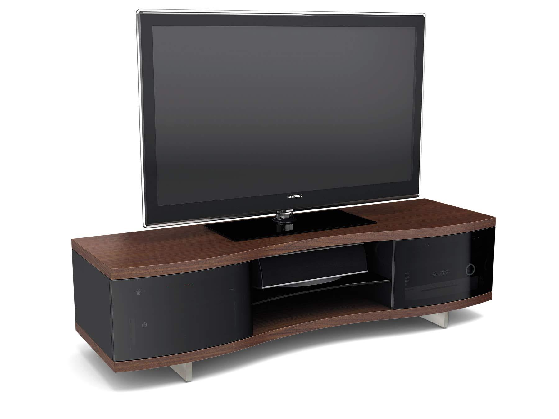 Bdi Ola 8137 Premium - Mueble para televisor, diseño Curvado Castaño Chocolate: Amazon.es: Electrónica