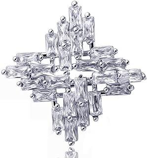 Zeagro 1X /Él/égant /Él/égant De No/ël Flocon De Neige Diamant De Mariage De Mari/ée Broche Broches pour Les Femmes Filles Bijoux