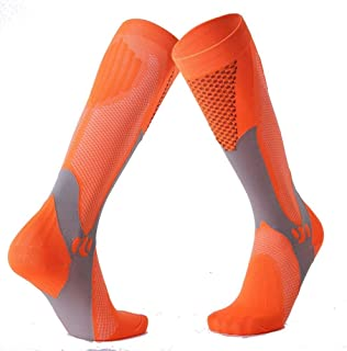 Color long-barreled knee compression stockings long-barreled compression socks outdoor sports socks adult male and female marathon runners compression stockings Physiotherapy socks