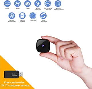 Mini Security Camera Supports Motion Detection and Night Vision, HD 1080P Spy Camera Provides Video and Photo Taking, The Portable Hidden Camera Can be Used as a Home Security Babysitting Pet Monitor