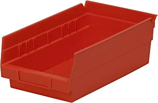 $36 » Akro-Mils 30130 12-Inch by 6-Inch by 4-Inch Plastic Nesting Shelf Bin Box, Red,Case of 12