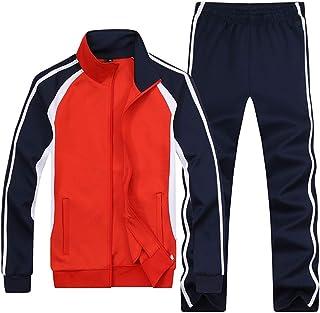Men's & Women's Classic Striped Jogger Sweat Suit Causal Sports Tracksuit