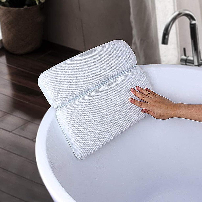 小道どこ単に滑り止めのバス枕-7つの強力な吸盤付きのスパ-バスルームの枕-柔らかくて快適で速乾性-首の肩用-肩の支え-風呂の枕-掃除が簡単で耐久性のある-柔らかい風呂の枕の快適な首の支え