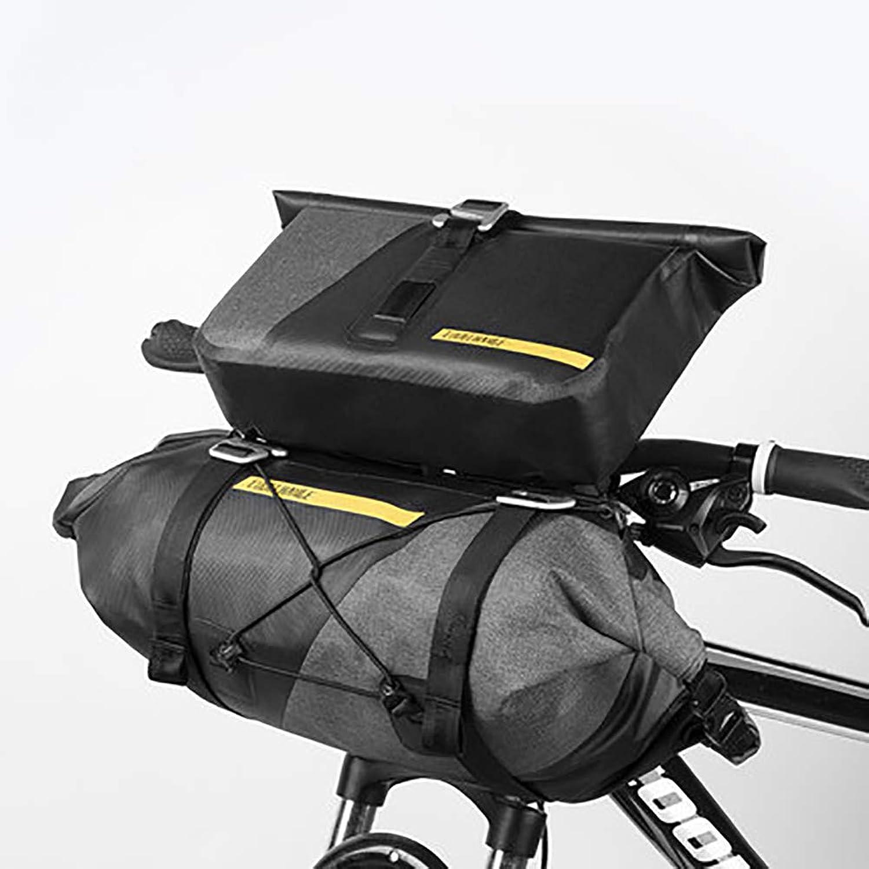 Bicycle Handlebar Bag, Waterproof Road Mountain Bike Riding Equipment Front Bag, Large Capacity