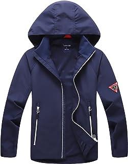 Sponsored Ad - SHIBASHAN Boys Girls Waterproof Jackets, Windbreaker Rain Coats for children, Lightweight Windproof Outdoor...