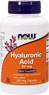 NOW® Hyaluronic Acid with MSM, 50 mg, 120 Veg Caps