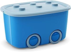 Kis Alto L pudełko do przechowywania Funny Box 46 litrów w kolorze jasnoniebieskim-niebieskim, plastik, 58 x 38,5 x 32 cm