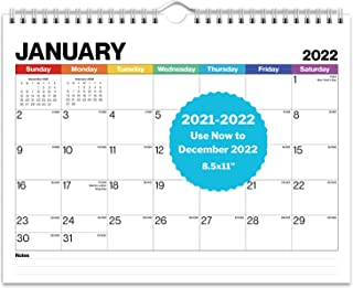 """Dunwell Small Wall Calendar 2022 - (Colorful), Use Hanging Wall Calendar from July 2021 to December 2022, Small 8.5x11"""" Ca..."""