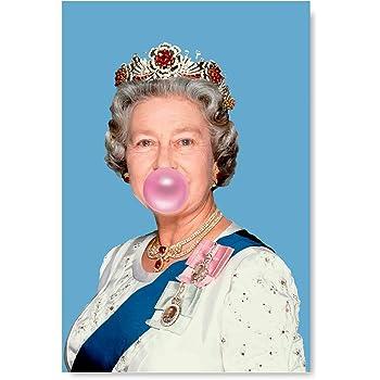 Queen Elizabeth Green Bubble Gum Photo Print On Framed Canvas Wall Art Decoratio