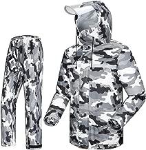 GLLL-raincoat Herren-Regenmantel-Set Regenjacke Faltbarer Wasserdichter Outdoor-Kapuzenpullover Regenmantel Poncho (Size : XXXL)
