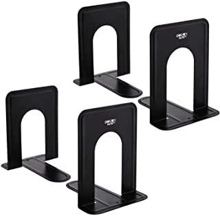MaxGear Book Ends Universal Premium Bookends Non-Skid Heavy Duty Metal Books End, Bookend Pack, Book Stopper for Books/Mov...