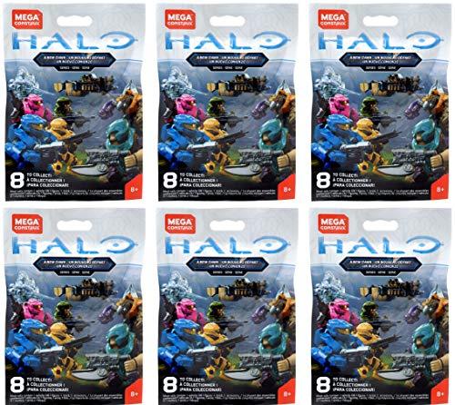 Halo Mega Construx Micro Action Figures A New Dawn Series CNC84 Blind Bag (Bundle of 6)