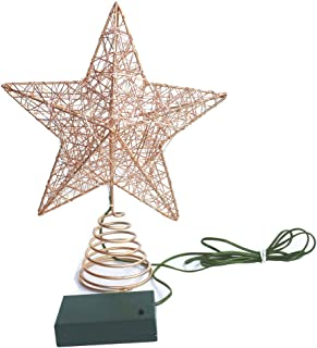 Sponsored Ad - OCTMUSTARD 3D Tree Topper Star, Timer Warm White LED Lighted Treetop Star, Hollowed-Out Glittered Star for ...