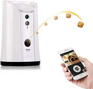 SKYMEE SM-02 Dog Camera Treat Dispenser, WiFi Remote Pet Camera with Two-Way Audio and Night Vision Remote via APP