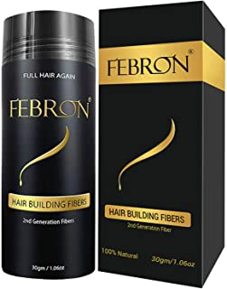 FEBRON Hair Fibers For Thinning Hair BLACK Giant 30G For Women & Men Hair Loss..
