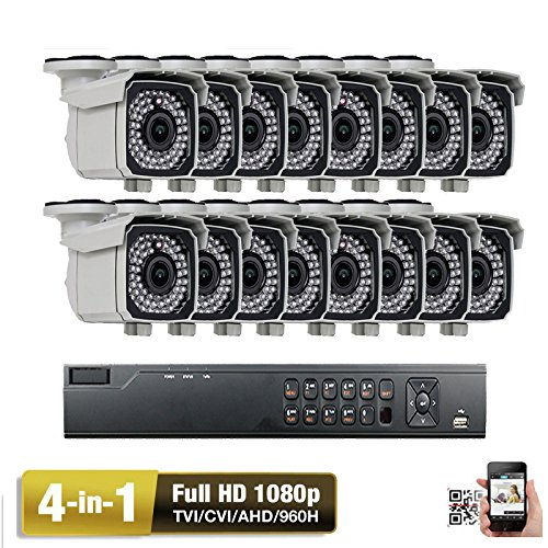 Buy Bargain Amview 16Channel HD 4-in1 1080P DVR 2.6MP HD 4-in-1 66IR 2.8-12mm Varifocal Security Cam...