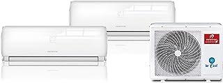 INFINITON Aire Acondicionado Multi-Split 2X1 (A++, 2 UNID Interior 2500 FRIGORIAS + 1 Exterior, WiFi, Inverter, Gas R32)