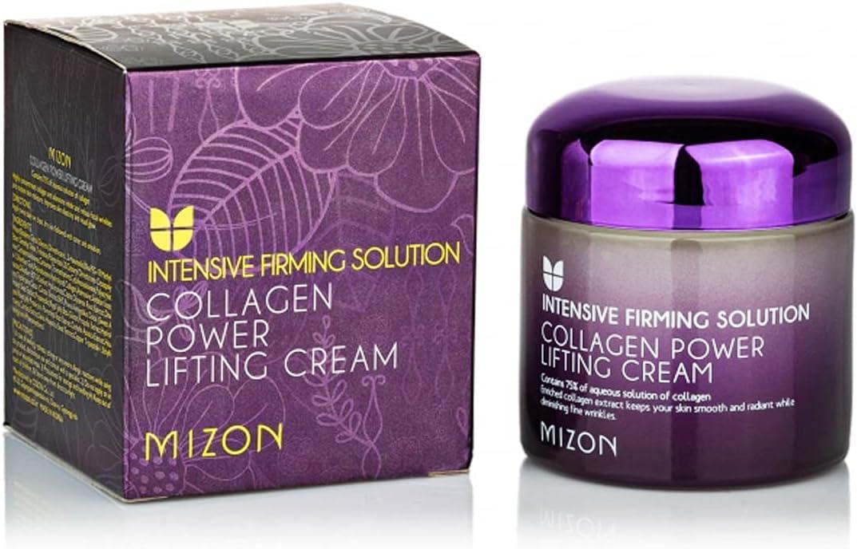 [Mizon] Crema Power Lifting de Colágeno (75ml) Hidratante Intensivo con 75% de Extracto de Colágeno Marino, Cosmético Coreano {Collagen Power Lifting Cream}