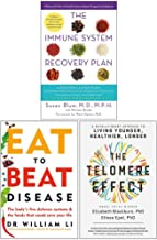 The Immune System Recovery Plan, Eat To Beat Disease, The Telomere Effect 3 Books Collection Set