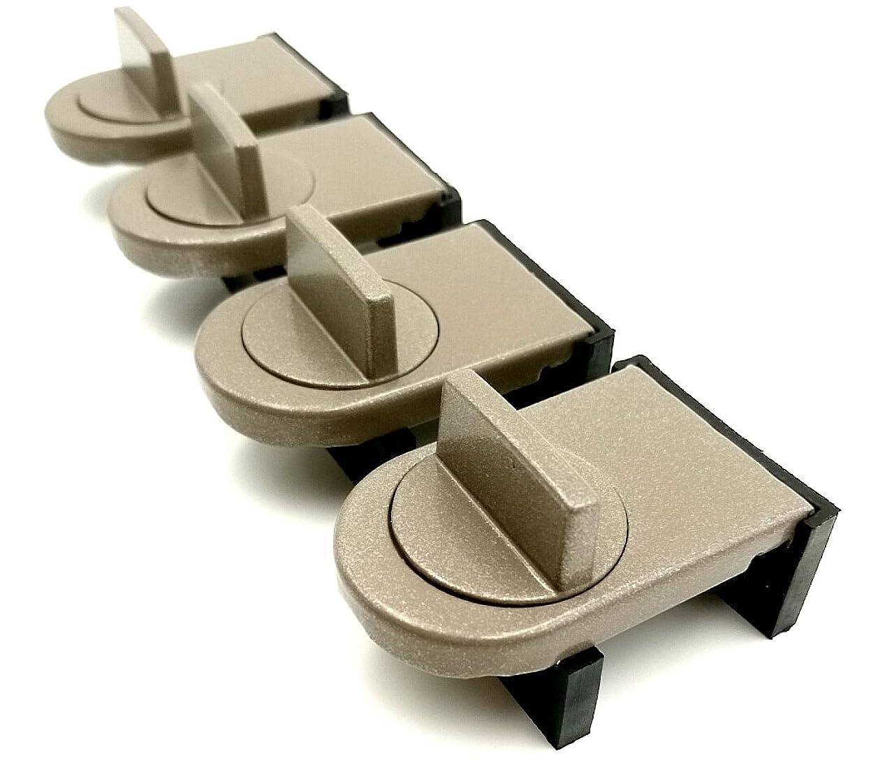 軸策定する支配的(TUISKU) 窓ロック サッシ ストッパー 4個 セット 補助錠 ベランダ 窓 鍵 防犯 (4個)