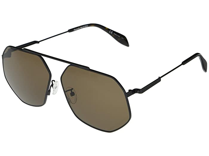 Alexander McQueen  AM0229SA (Black) Fashion Sunglasses