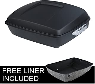 TCMT Matte Black Chopped Tour Pack Trunk W/Latch Fits For Harley Street Road Glide 2014 2015 2016 2017 2018 2019 2020