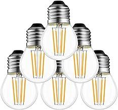 Led Gloeilamp E27 4 W, G45 E27 warmwit, E27 LED lamp, 2700 K, E27 LED Lampen warmwit, 540 lumen, in plaats van 60 W Gloeil...