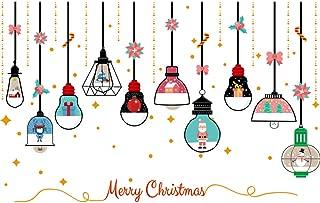 WARMWORD Decoración Navidad Pegatina Pegatinas Removibles Calcomanía de Ventana Vidrio Pared Puerta Vinilos Decorativos Autoadhesivo para Escaparate Tienda Hogar Moderno