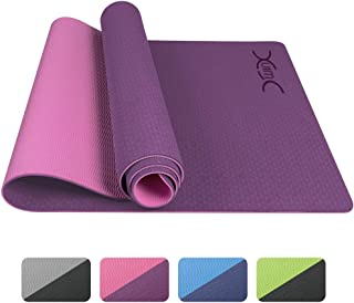 YXwin Yoga Mat, Classic 1/4 Inch Thick, Non Slip Pro Yoga...