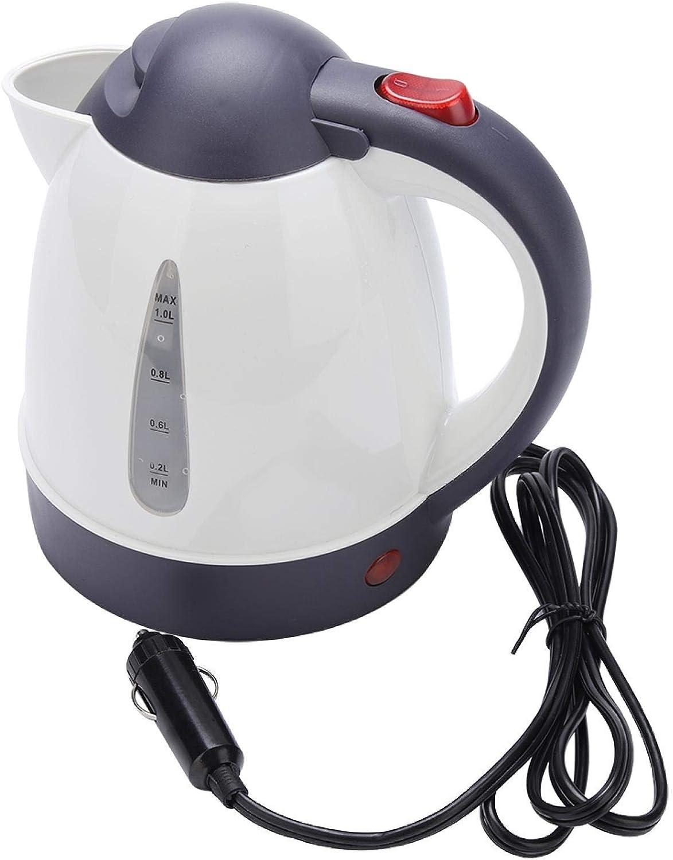 Hervidor Baverta - Hervidor eléctrico portátil de viaje para coche, camión, hervidor de agua, botella para hacer té y café, 12 V, 1000 ml