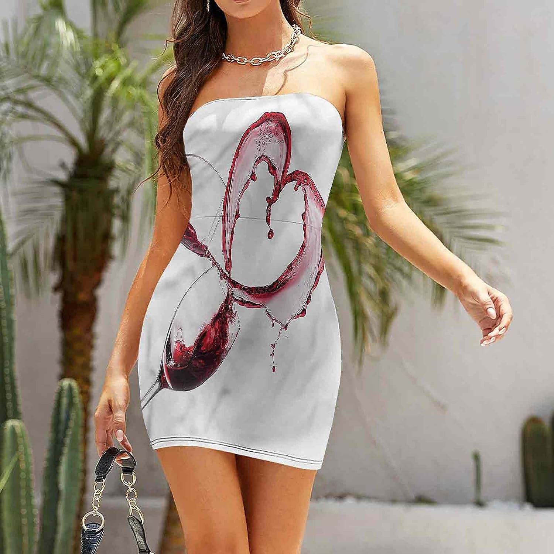 SUZM Women's Strapless Bodycon Club Dress French Gourmet Tasting Dresses