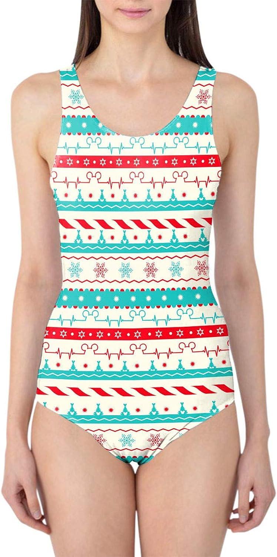 Christmas Candycane Disney Heartbeat Woherren Swimsuit Badeanzug
