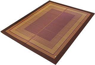 イケヒコ い草ラグ カーペット 3畳 国産 『DXランクス総色』 ワイン 約191×250cm (裏:不織布)